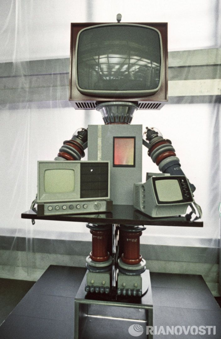 Knight of the radio electronics, robot created by Pozitron union in Leningrad, 1971.