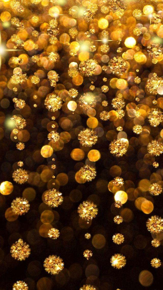 Gold Rain Shine Holiday Hintergrund Flicker Glow Jewelry Stones Light # iPhone # 5s #wallpaper