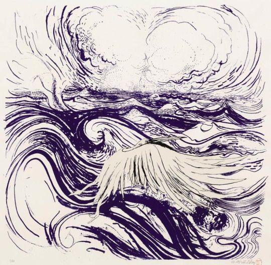 Brett Whiteley Bird and Wave