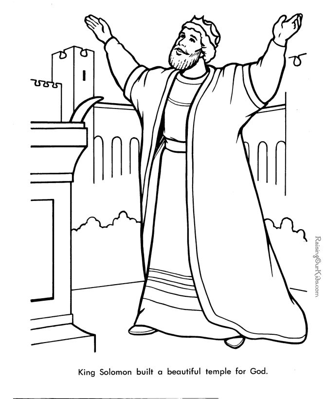King Solomon Bible Coloring Pages Sketch Page