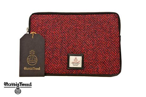 Glasgow 2014 Harris Tweed Small Tablet Cover in Red – itison