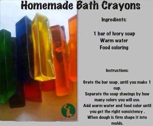 Use Ivory Soap for DIY bath crayons