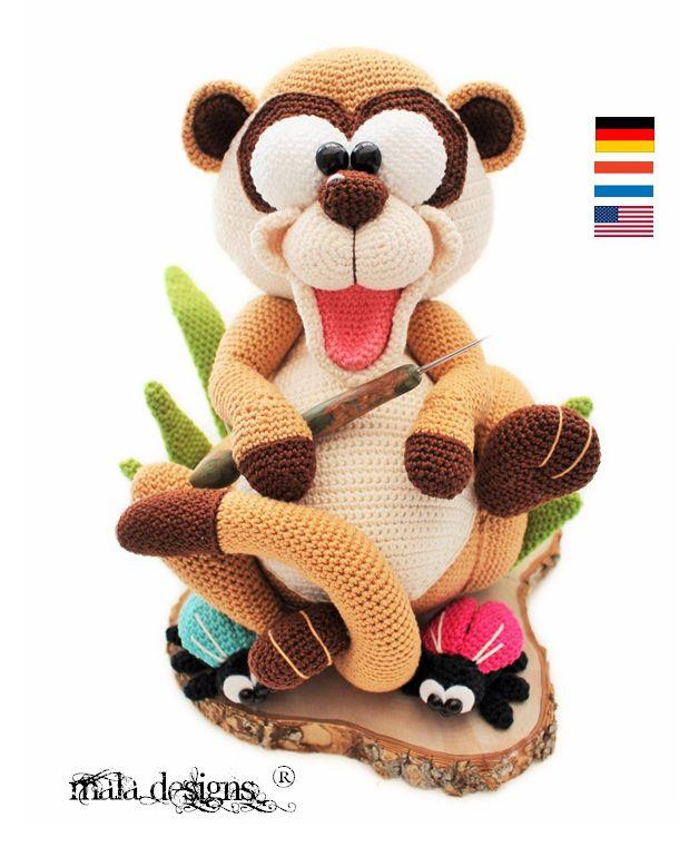 Anleitung ist verfügbar in folgenden Sprachen: deutsch, niederländisch und englisch  Diese Häkelanleitung beinhaltet die Beschreibung für das große Edrmännchen, Käfer und Grashalmen. Nach...