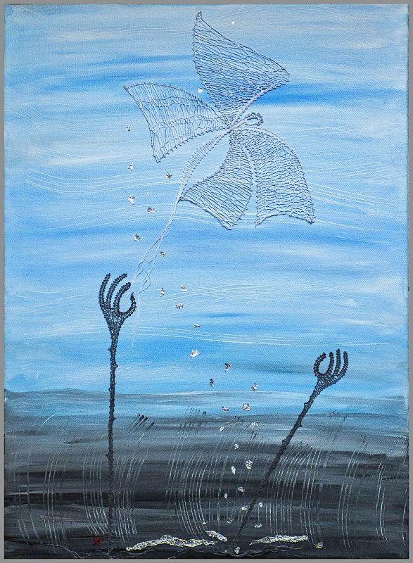 podmaľované paličkované obrazy - Katky Búranovej