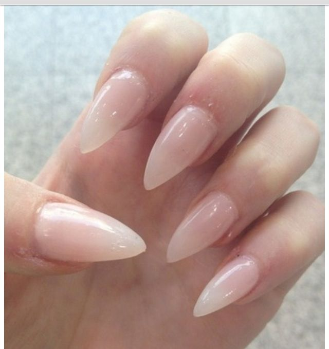 I Dunno Why But Looove Nails That Look Like Claws Been Wanting Clear Stiletto For A Long Time Might Get Em Today Pinterest