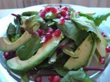 Avocado and Pomegranate Salad with Cumin Lime Vinaigrette - © Miri Rotkovitz