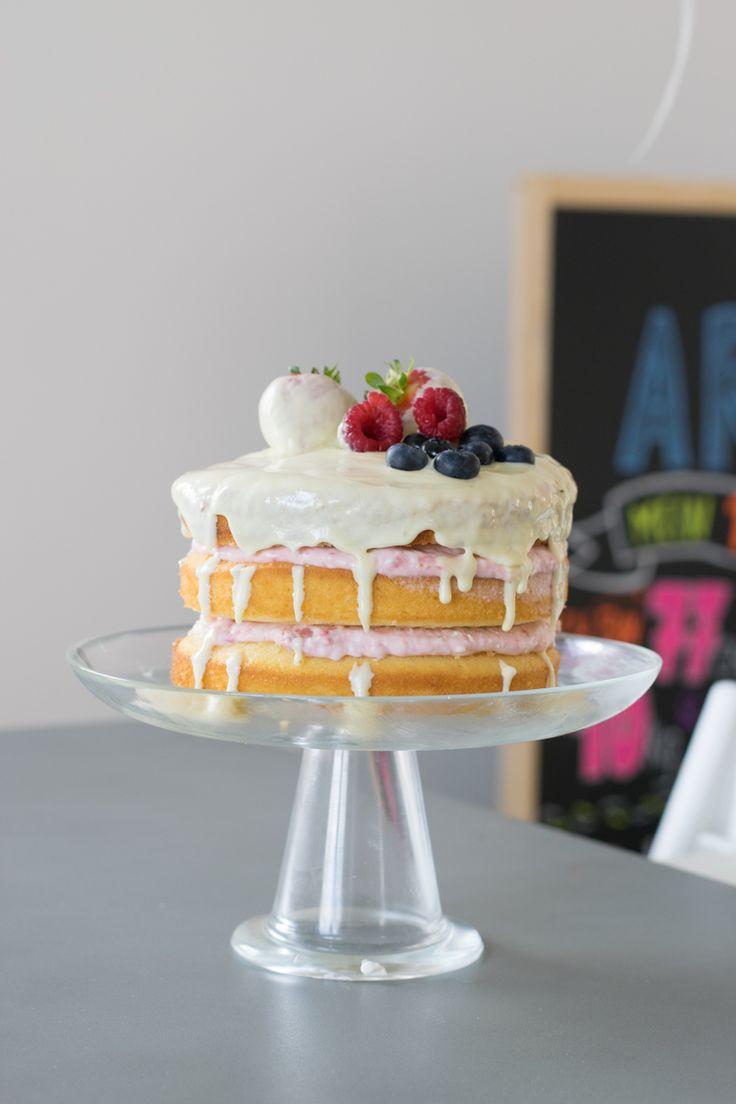 Naked Cake Kindergeburtstag erster Geburtstag Smash Cake Geburtstagskuchen Geburtstagstorte Baby Babygeburtstag Obst Smashcake First Brithday