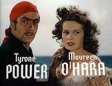 Power and O'Hara in the trailer for The Black Swan (1942)