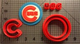 Chicago Cubs Cookie Cutter Set