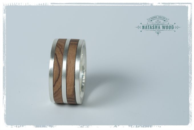 Double layer Olive wood mans ring by Natasha Wood Jewellery on hellopretty.co.za