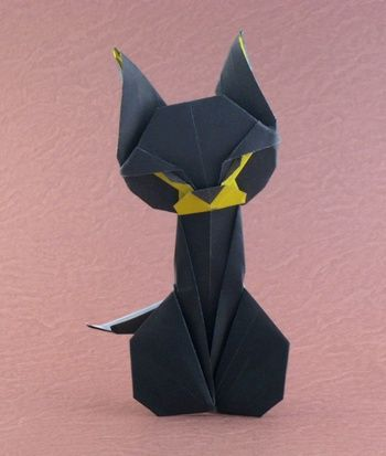 Origami Cat by Mieko Seta folded by Gilad Aharoni