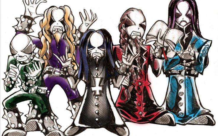 Музыка Dimmu Borgir black metal музыка группы группы обложки альбомов тяжелый хард 4 Размеры Домашнего Декора Холст Печати Плакатов