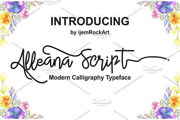 Alleana Script by Ijemrockart / Letterplay on @creativemarket