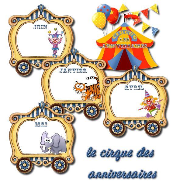 La maternelle de Laurène: Le cirque - train des anniversaires