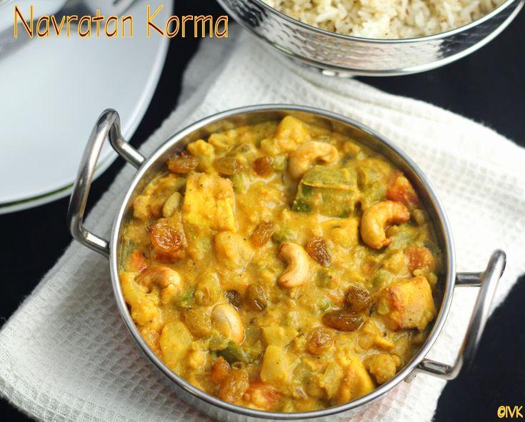 Navratan Korma | Navratna Kurma Recipe | Side-dish for Indian Breads