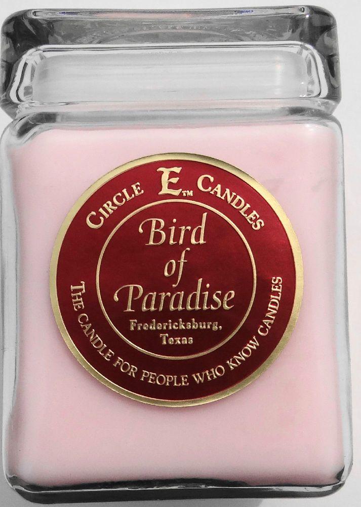 Lot of 2 40oz Circle E Jar Candles -  Bird of Paradise