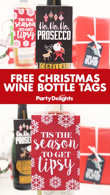 Put a unique touch on your Christmas present with our free printable Christmas wine bottle tags. Download these free Christmas gift tags - the perfect addition to wine bottle gift wrapping!