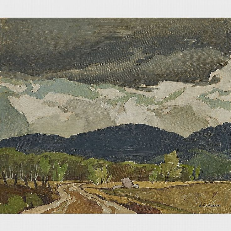 A.J. Casson - Northern Road Halfway Lake 9.25 x 11.25 Oil on board