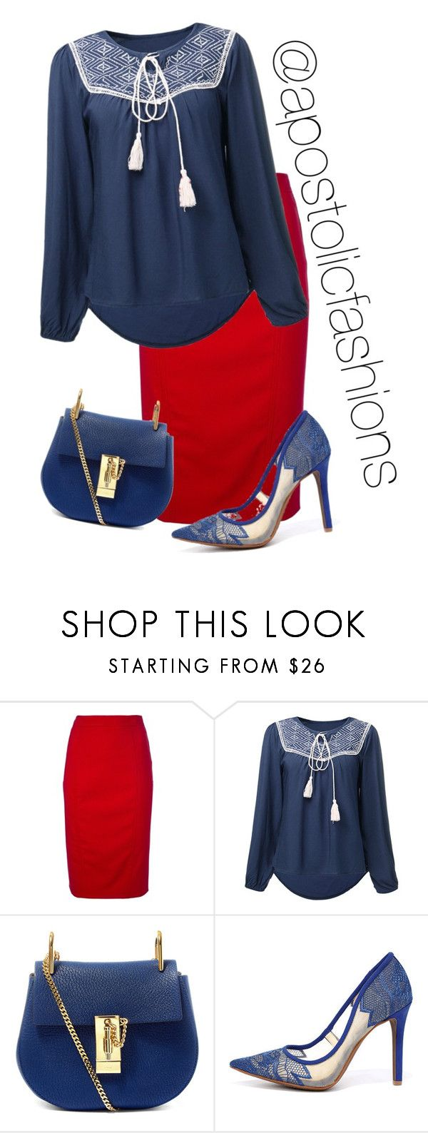 """""""Apostolic Fashions #1398"""" by apostolicfashions ❤ liked on Polyvore featuring Valentino, Chloé, Jessica Simpson, modestlykay and modestlywhit"""