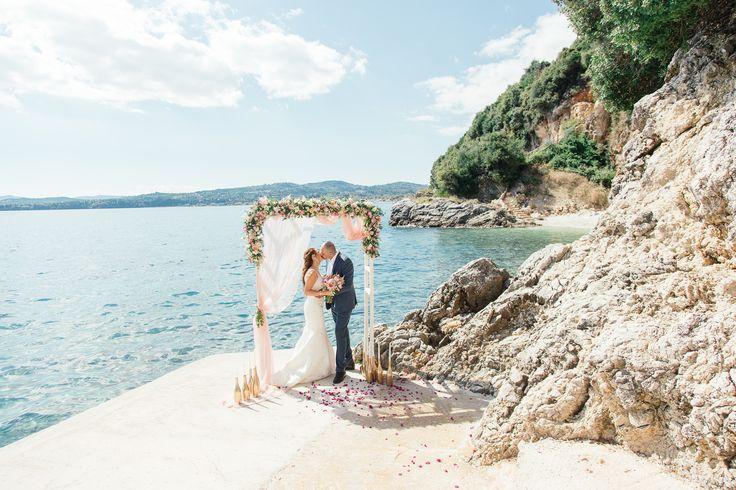 Corfu villa wedding #corfu #wedding #elopement #symbolic #ceremony #greece #island #destination