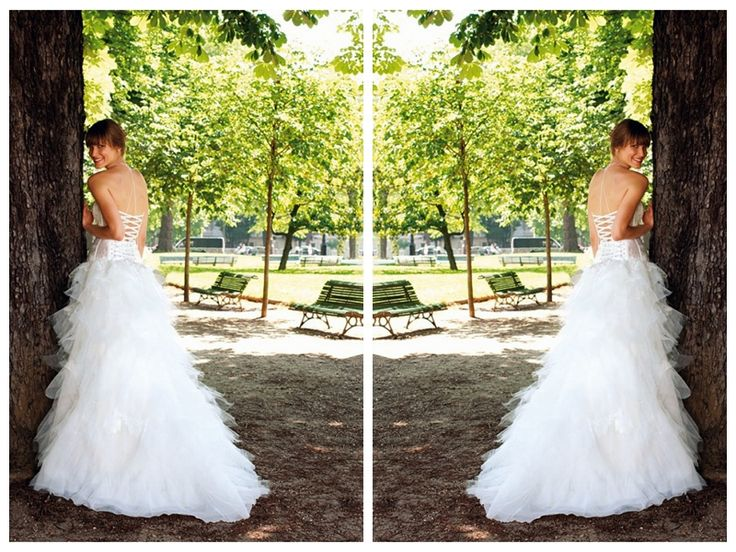 Illusion Boned Bodice with Lace Appliques A-Line Ruffled Skirt Lucky Wedding Dress
