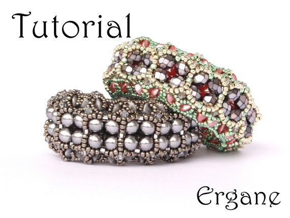 This is a tutorial in pdf file.  It's great fun to make your own jewellery.. Sparkle Evening Bracelet looks very elegant with pearls. #beaded #jewelry #tutorial #bracelet #pearl #toho #beading #pattern