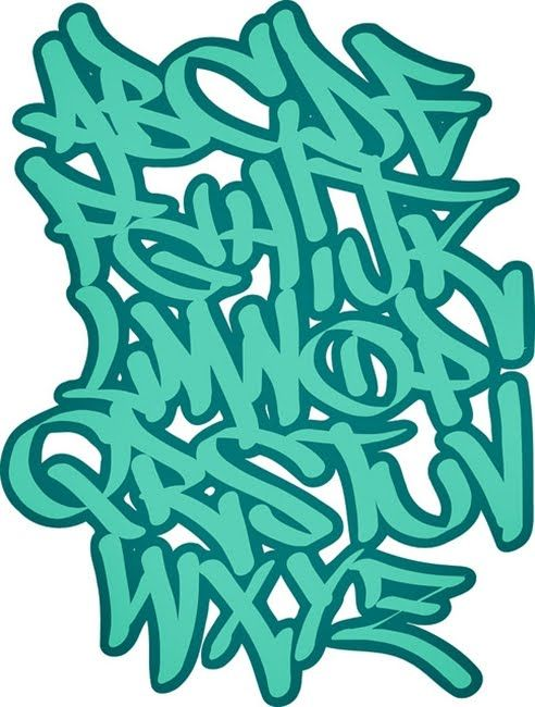 3D Graffiti Letters A-Z | graffiti 3d wildstyle: Green Bubble Graffiti Letter A-Z