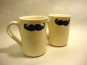 Have these mugs. Love these mugs!   http://www.villagepottery.ca/store/pottery/mugs/movember-mug
