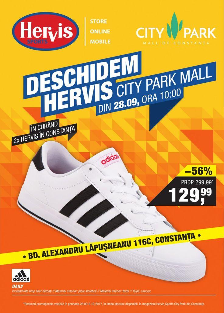 Catalog Hervis Sports 28 Septembrie - 08 Octombrie 2017! Oferte: Adidas incaltaminte timp liber barbati, material exteror piele sintetica reducere 56%