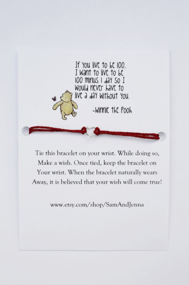 Meilleur ami souhait Bracelet W Winnie l ourson meilleurs amis amour