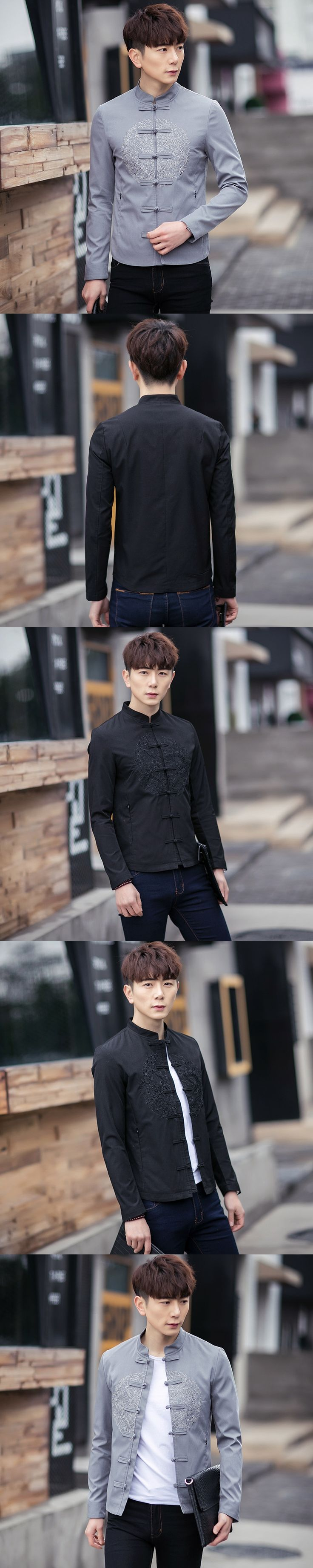 The Spring Of 2017 New Male China Wind Jacket Size Coat Jacket, Men's Embroidered Retro