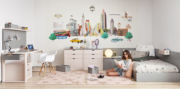 Habitación juvenil para una chica adolescente