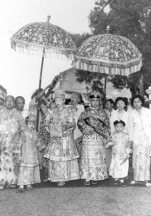 Peranakan wedding in Singapore - 1957