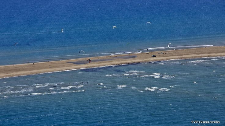 Prasonisi in Rhodes, South Aegean, Greece is a thrilling meeting point for kitesurfers, at the southest part of the island! Explore it and get ready for some real excitement! #summer #kitesurfing #windsurfing #Rhodes #Dodecanese #SouthAegean #beachfun #discover #travel #aerialphotos #aerialvideos #TRIPinVIEW
