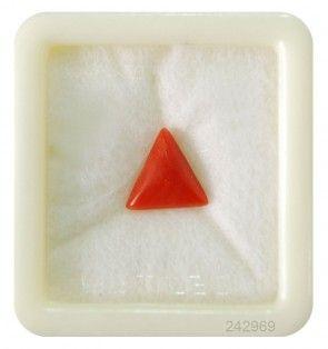 #Triangular red coral gemstone