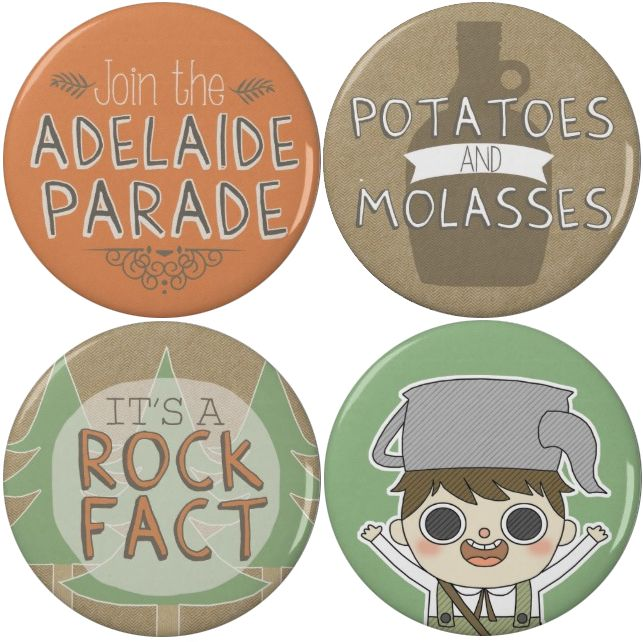 WE'RE HERE TO BURGLE YOUR TURTS. Hah, just kidding! We're just here to sell you some cool Over the Garden Wall buttons featuring everyone's favorite silly little boy, Greg!  Get yours here.