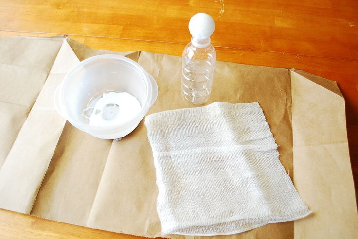 Easy cheesecloth ghosts tutorial to craft with kids.