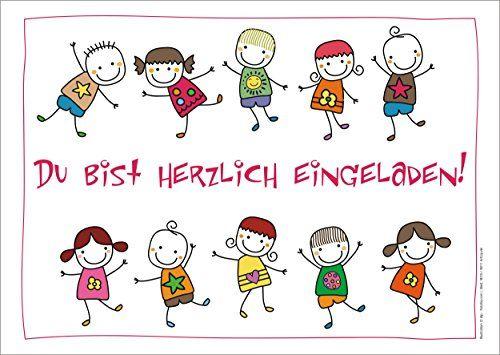 10 Lustige Einladungskarten (+ 2 Karten Gratis!) Schön Il... Https