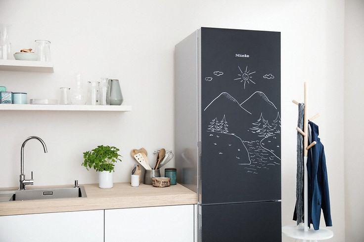 KFN 29283 D bb - Stand-Kühl-Gefrierkombination XL in exklusiver Blackboard edition mit PerfectFresh und NoFrost.--Tafellack