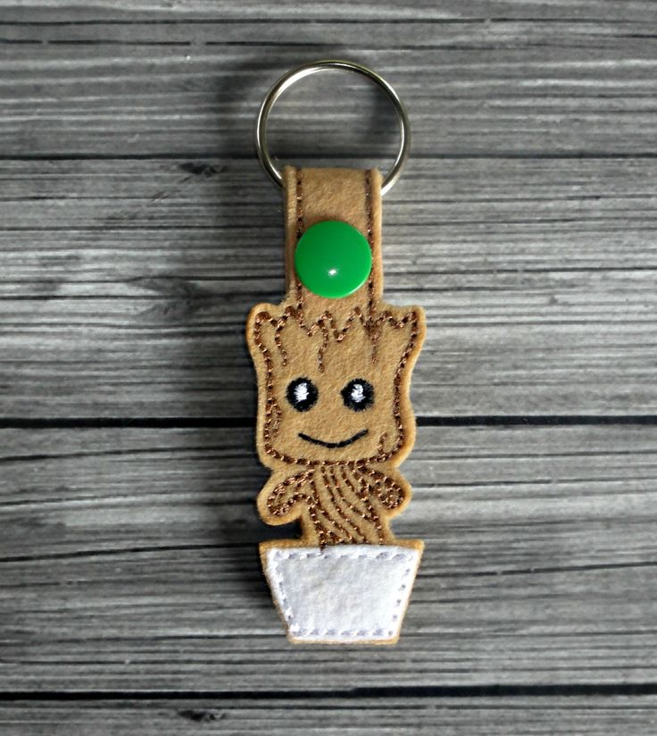Baby Groot Keychain ITH Embroidery Design | Uncle Matt's Crib