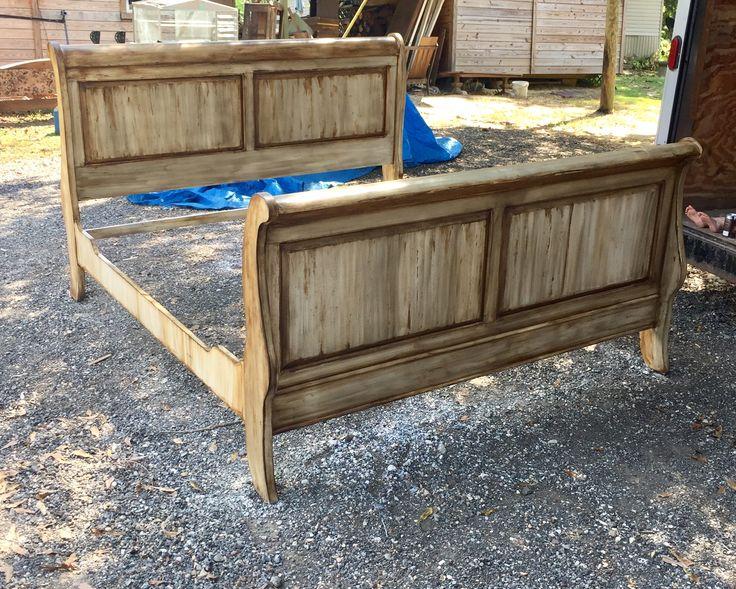 Restored sleigh bed. 31 best Rustic furniture restoration images on Pinterest