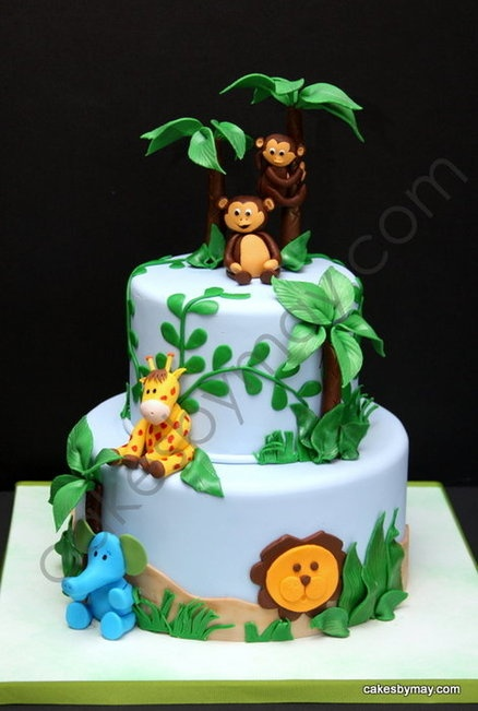 Wonderful Jungle Baby Shower Cake Cake By CakesbyMaylene