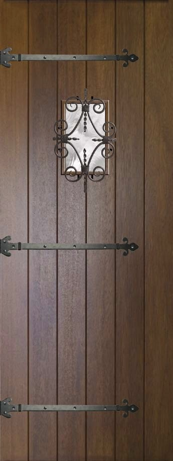 Speakeasy Prehung External Single Door 96 80 Wood Mahogany ...