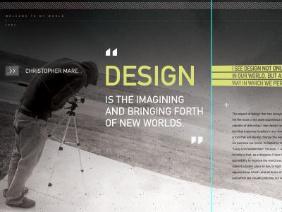 Headline color and type treatment over photography