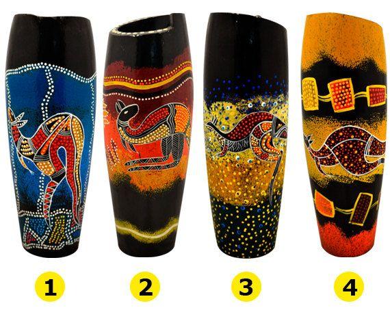 Australian Aboriginal Hand Painted Tall by AboriginalOzArt on Etsy