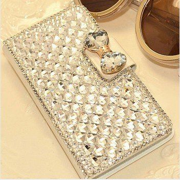 Extreme glitter and glam! Bling wallet case hoesje voor Samsung Galaxy Note 3
