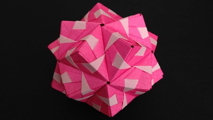 Origami Kusudama sonobe inside out 30units instructions折り紙のくす玉 薗部式 裏出し30...