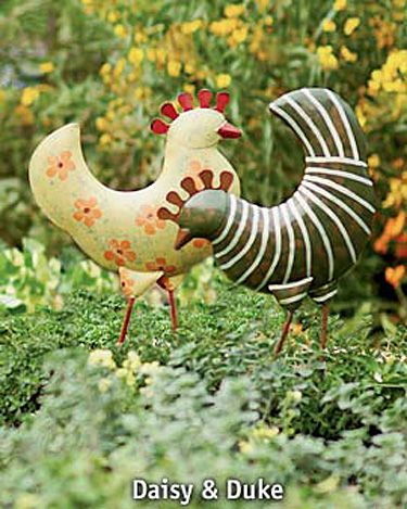 Funky Garden Chickens   Buy from Gardener's Supply