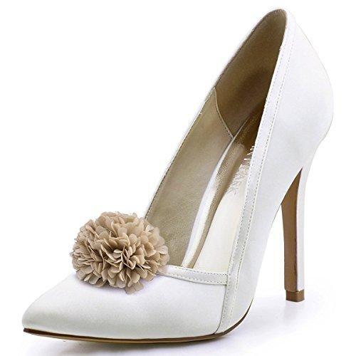 Oferta: 48.99€ Dto: -26%. Comprar Ofertas de ElegantPark HC1603 Mujer Tacš®n de Aguja Tacones Noche Baile Zapatillas Scarpe A Punta SatšŠn Boda Zapatos de Fiesta Marfil 3 barato. ¡Mira las ofertas!