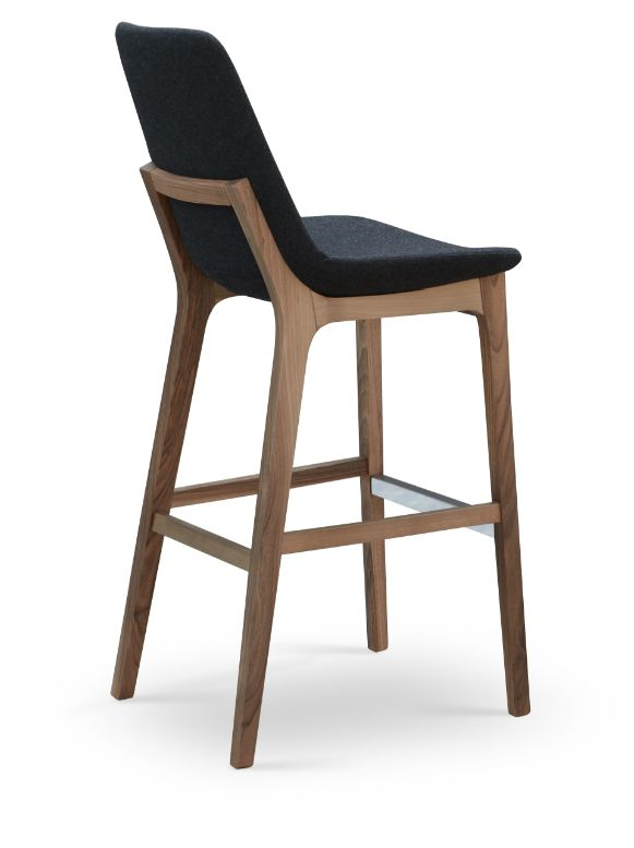 Superb Eiffel Wood Stool. Bar Stools With BacksWood ...